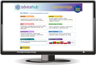 Citizens Advice Cambride Kiosks